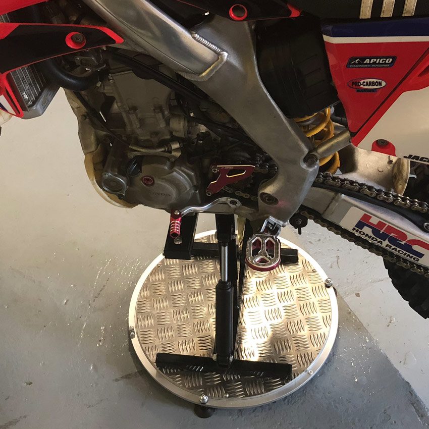 Moto Mat Turntable With Hydraulic Lift Motorcycle